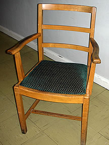 Drop in seat dining chair